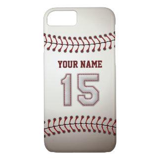 Béisbol número 15 con su nombre - deportivo funda iPhone 7