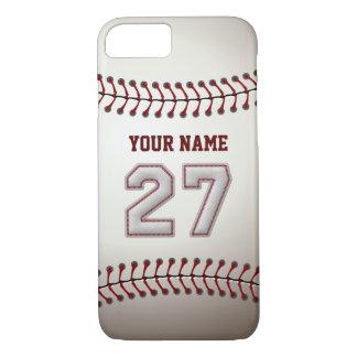 Béisbol número 27 con su nombre - deportivo funda iPhone 7