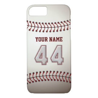 Béisbol número 44 con su nombre - deportivo funda iPhone 7
