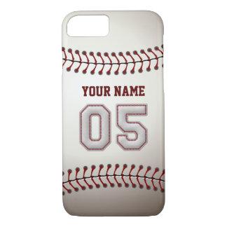 Béisbol número 5 con su nombre - deportivo moderno funda iPhone 7