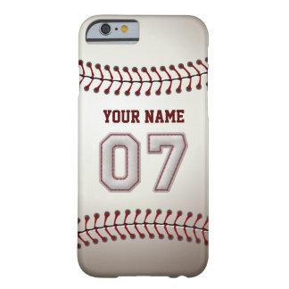 Béisbol número 7 con su nombre - deportivo moderno funda para iPhone 6 barely there
