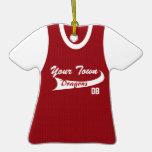 Béisbol o softball de la liga de la ciudad natal ornamento de reyes magos