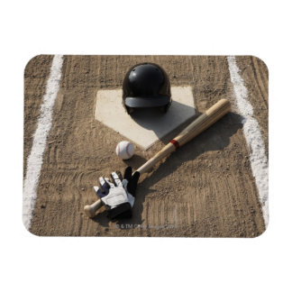Béisbol, palo, guantes de bateo y béisbol imanes rectangulares