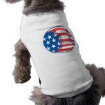 Béisbol patriótico ropa de mascota