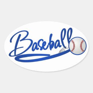 Béisbol Pegatinas De Oval