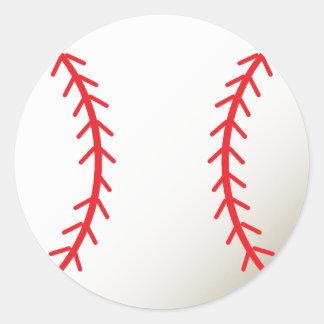 Béisbol Etiquetas Redondas