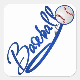 Béisbol Calcomanías Cuadradases