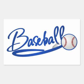 Béisbol Rectangular Pegatinas