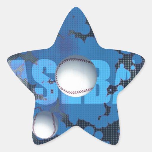 Béisbol Calcomania Forma De Estrella Personalizadas