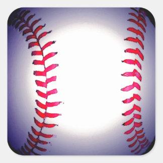 Béisbol Pegatina Cuadrada