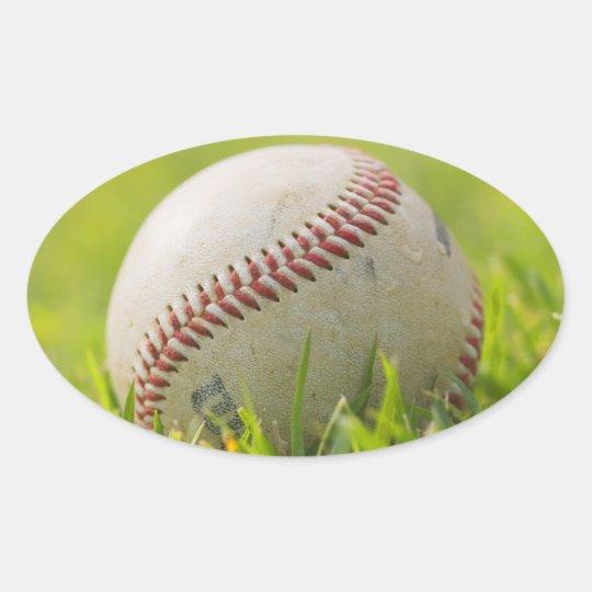 Béisbol Pegatina Ovalada