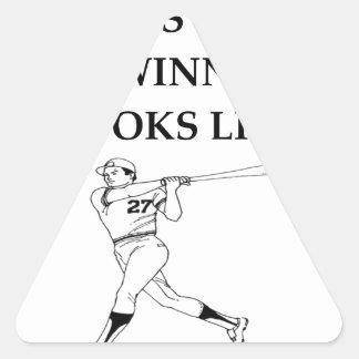 béisbol pegatina triangular