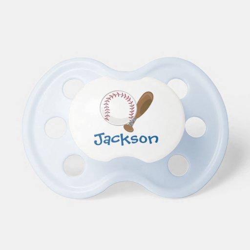 Béisbol personalizado chupetes de bebe