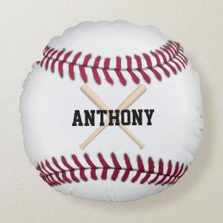 Béisbol personalizado cojín redondo