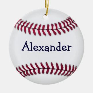 Béisbol personalizado con la costura roja ornatos