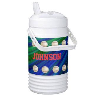 Béisbol personalizado del vaso refrigerador enfriador de bebida igloo