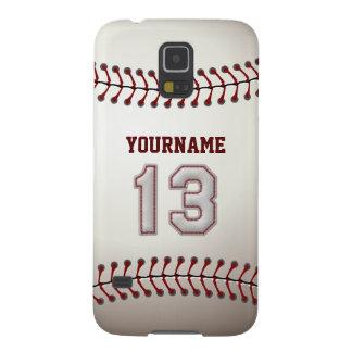 Béisbol personalizado número 13 con su nombre carcasas de galaxy s5