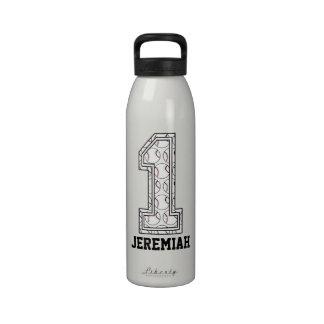 Béisbol personalizado número 1 botellas de beber