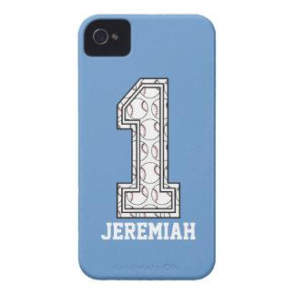 Béisbol personalizado número 1 iPhone 4 cárcasa
