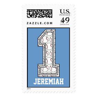 Béisbol personalizado número 1 sellos