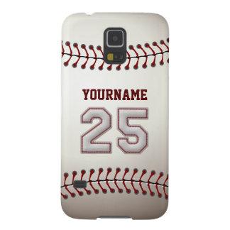 Béisbol personalizado número 25 con su nombre carcasa para galaxy s5