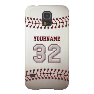 Béisbol personalizado número 32 con su nombre fundas para galaxy s5