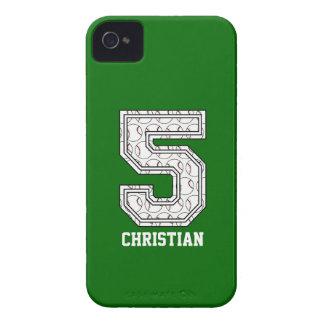 Béisbol personalizado número 5 Case-Mate iPhone 4 coberturas