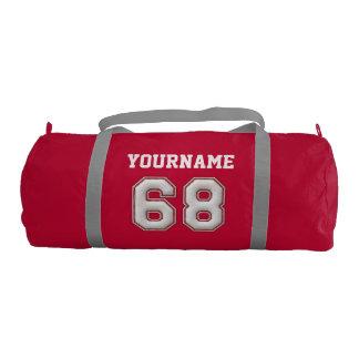 Béisbol personalizado número 68 con su nombre bolsa de deporte
