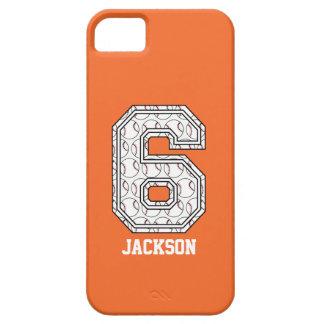Béisbol personalizado número 6 iPhone 5 Case-Mate funda