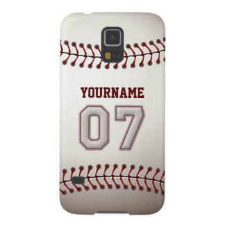 Béisbol personalizado número 7 con su nombre carcasas de galaxy s5