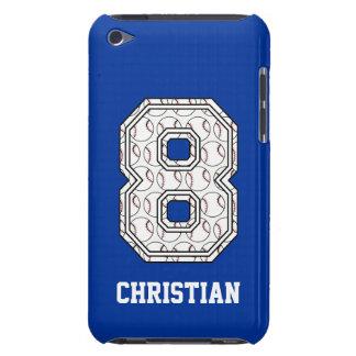 Béisbol personalizado número 8 iPod Case-Mate funda
