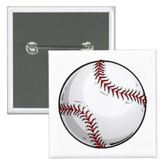 Béisbol Pin Cuadrado