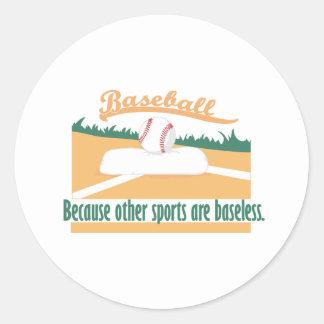Béisbol porque…. pegatina redonda