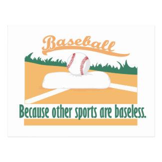 Béisbol porque…. tarjeta postal