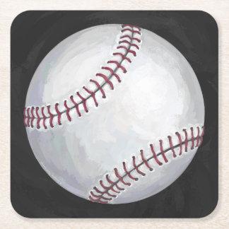 Béisbol Posavasos De Cartón Cuadrado
