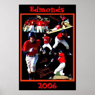 Béisbol Poster2 del estudiante de primer año de Ed Póster