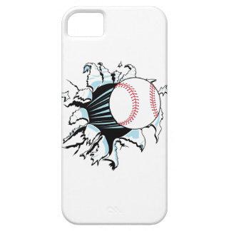 béisbol potente que rasga a través funda para iPhone 5 barely there