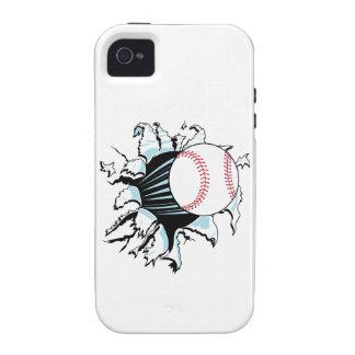 béisbol potente que rasga a través iPhone 4/4S carcasa