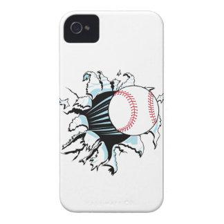 béisbol potente que rasga a través iPhone 4 protectores