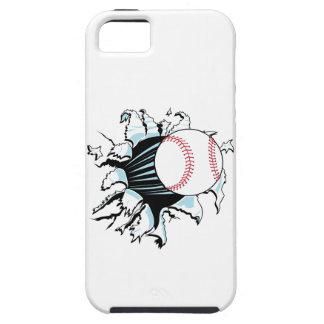 béisbol potente que rasga a través iPhone 5 carcasa