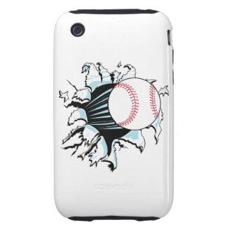 béisbol potente que rasga a través tough iPhone 3 protectores