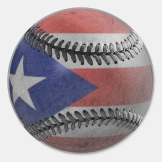 Béisbol puertorriqueño pegatina redonda