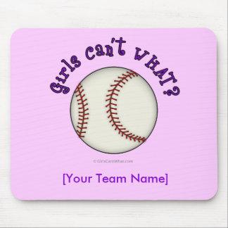 Béisbol-Púrpura Mouse Pad