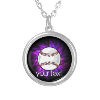 Béisbol púrpura; Softball Pendiente Personalizado