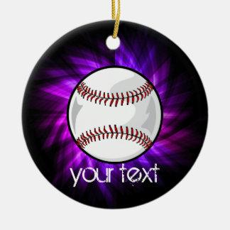 Béisbol púrpura; Softball Ornamento Para Reyes Magos