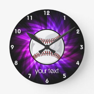 Béisbol púrpura Softball Reloj