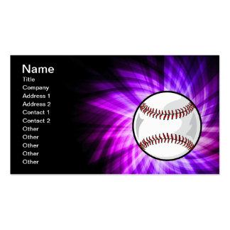 Béisbol púrpura; Softball Tarjeta De Visita