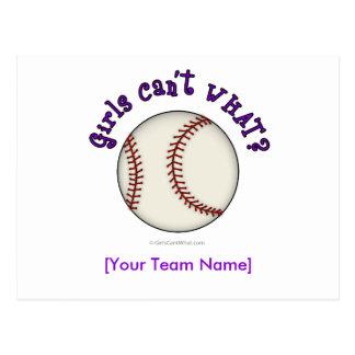 Béisbol-Púrpura Tarjeta Postal