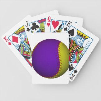 Béisbol púrpura y amarillo baraja