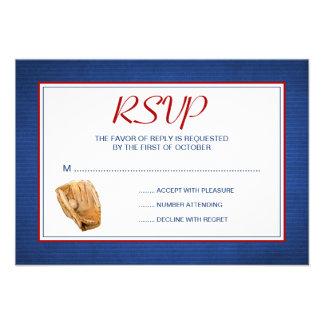 Béisbol que casa la tarjeta de la respuesta de RSV Comunicado Personal